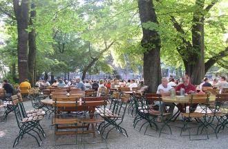 Hirschau München mit Biergarten