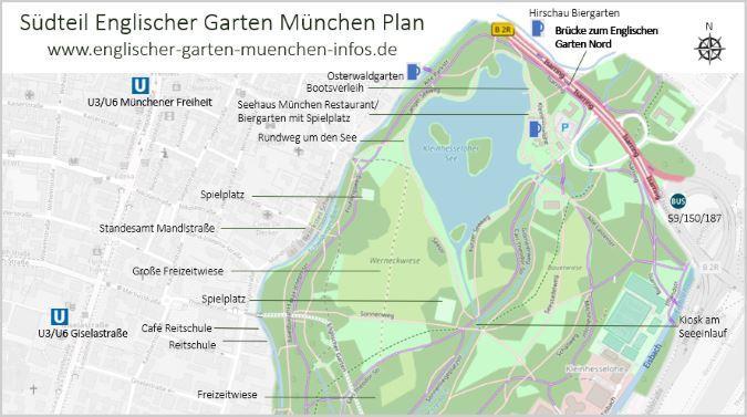 Seehaus München im Englischen Garten Karte und Plan