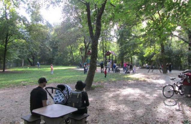 Spielplatz am Michhäusl im Englischen Garten München