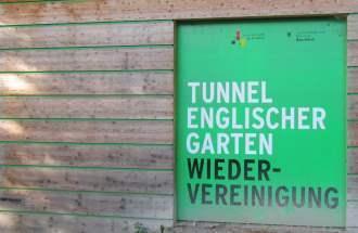 Tunnel und Wiedervereinigung im Englischen Garten