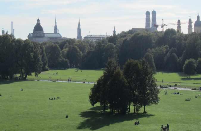 Spaziergang München im Englischer Garten