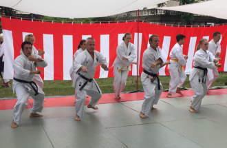 Karate Vorführung beim Japanischen Fest