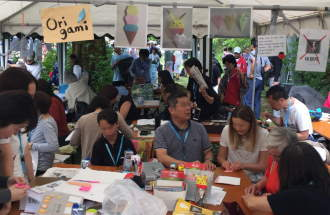 Origami Basteln beim Japanischen Fest
