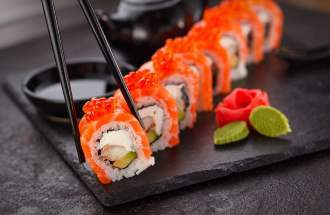 Sushi während dem Japanfest