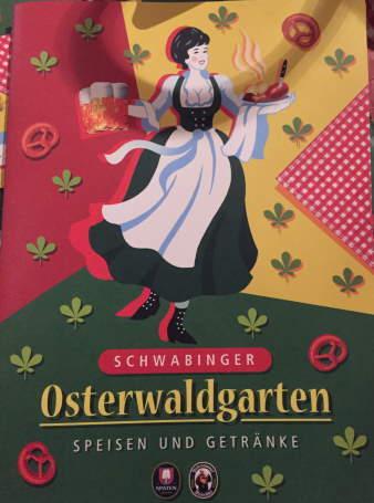 Speisekarte Osterwaldgarten München