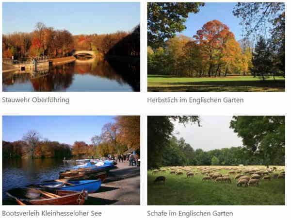 Englischer Garten München Herbstzeit
