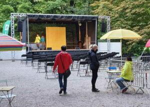 375 Hektar Festival Bühne am Seestadl